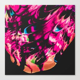 Abstract Splatter Paint v6 Canvas Print