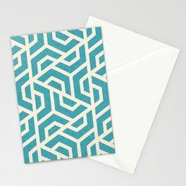 Maze Blue Stationery Cards