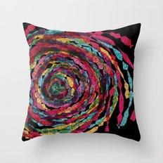 pattern - spaghettis spiral Throw Pillow