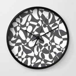 Abstract pattern - gray and white. Wall Clock