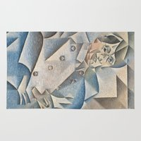 pablo picasso Area & Throw Rugs featuring Portrait of Pablo Picasso by ArtMasters