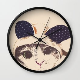 Kitty- bunny cut out Wall Clock