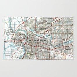 Sacramento California Map (1994) Rug