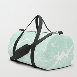 Modern vintage mint white elegant marble Duffle Bag