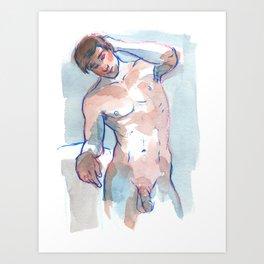 WILL, Nude Male by Frank-Joseph Art Print