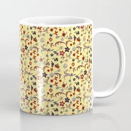Yellow Taj Mahal Marble Flowers Coffee Mug