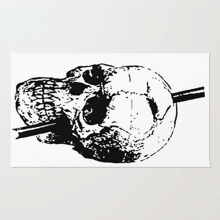 The Skull of Phineas Gage Vintage Illustration Rug