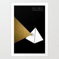 Mind's Eye (Limited Edition Gold Beam) Art Print