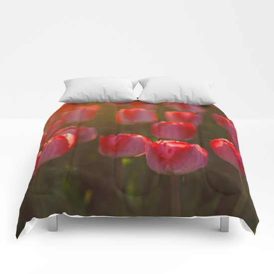 Tulips spring Comforters