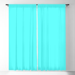 DPCSD Vivid cyan color Blackout Curtain