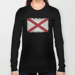 State flag of Alabama - Vintage version Long Sleeve T-shirt