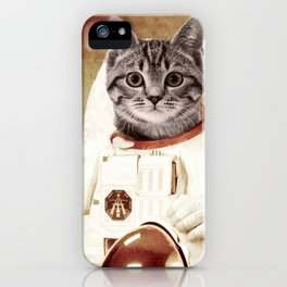 meow astronout iPhone Case