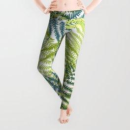 Fern frond seamless pattern Leggings