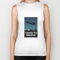 i want to believe Biker Tanks featuring I want to believe by Fresco Umbiatore
