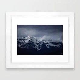 DARK MTNS Framed Art Print
