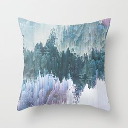 Glitched Landscapes Collection #5 Throw Pillow