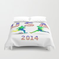 usa Duvet Covers featuring USA by Robin Curtiss
