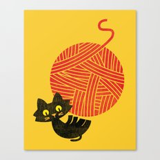 Fitz - Happiness (cat and yarn) Canvas Print