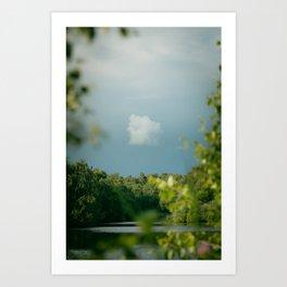 Stormy Skies over Holme Fen Art Print