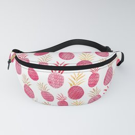 Pink Pineapple Watercolor Fanny Pack