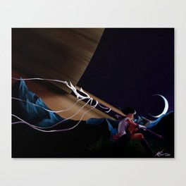 Lonely Soldier Sailor Saturn Canvas Print