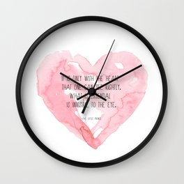 It is only with the heart Wall Clock