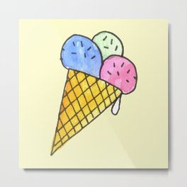 Popart candy and ice-cream Metal Print