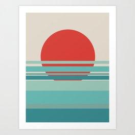 Nature Scandi Nordic sunset Art Print