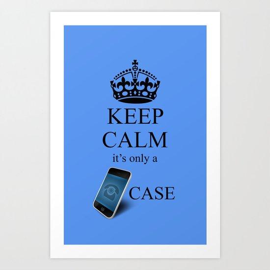 KEEP CALM IPHONE v2 Art Print