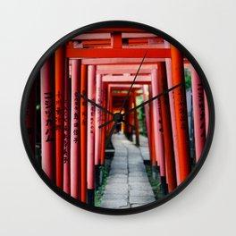 Torii Tunnel Wall Clock