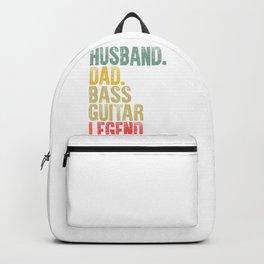 Funny Men Vintage T Shirt Husband Dad Baseball Base Guitar Legend Retro Backpack