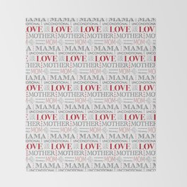 Mother's Day Love Throw Blanket