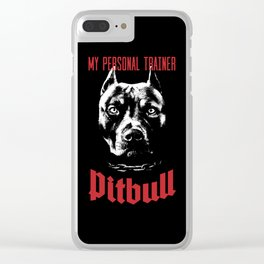 Pitbull My Personal Trainer Clear iPhone Case