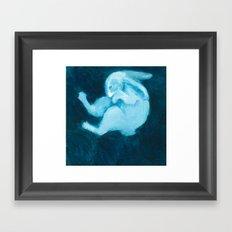 Ghost Bunny VIII Framed Art Print