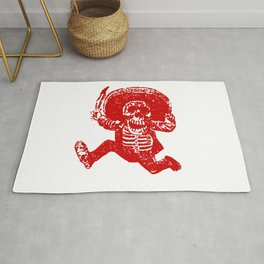 Pirate Skeleton Holding Dagger Rug