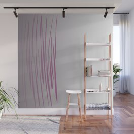 Wild ethnic lines pink grey Wall Mural