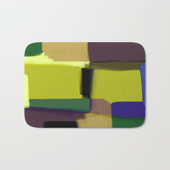 Simply Abstract X - Abstract, oil painting, pastel colours Bath Mat