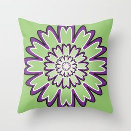 Focusing Mandala - מנדלה התמקדות Throw Pillow