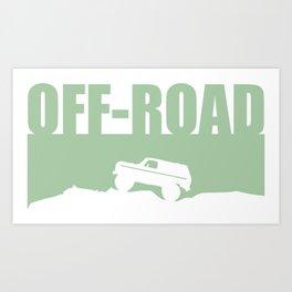 A trail or trails rock crawling off-road design Art Print
