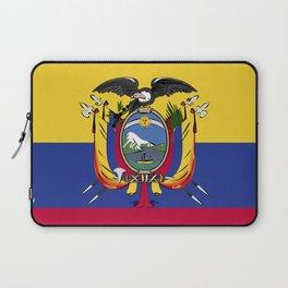 Ecuador flag emblem Laptop Sleeve