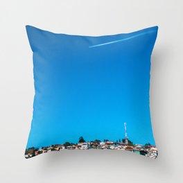 At The Sky Throw Pillow