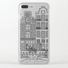 Amsterdam Line Art Clear iPhone Case