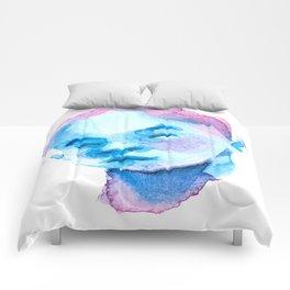 Blue Portrait Comforters