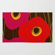 Red Poppy Flowers by Friztin Rug