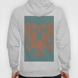 red double-headed eagle on gray background Hoody