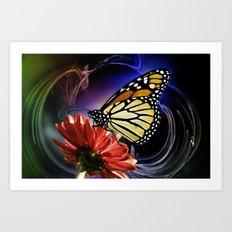 Butterfly Summer Dance  Art Print