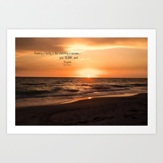 You Are My Sunset Art Print
