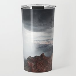 a storm in the grand canyon Travel Mug