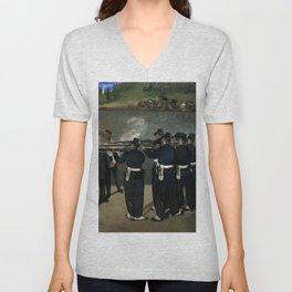 "Édouard Manet ""The Execution of the Emperor Maximillian"" Unisex V-Neck"