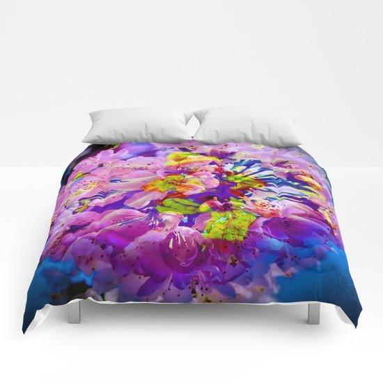flowers magic Comforters